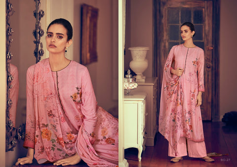 VARSHA THE BRIGHT ORCHID COCO LAWN WITH KNOT WORK DIGITAL PRINT SUIT
