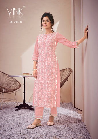 VINK PRESESTS LUCKNOWI BEAUTIFUL FANCY COTTON KURTI COLLECTION