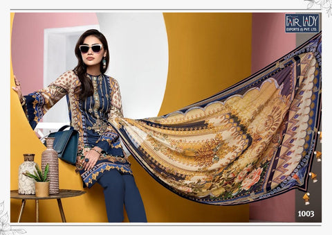 Fairlady Viva Anaya Jam Satin Presents Embroidery Salwar Kameez Collection