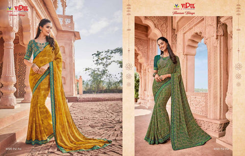TITANIUM NILAYA BY VIPUL GEORGETTE PRINTED SAREE