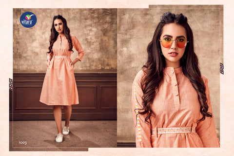 Vitara Fashion Eliza Trendy Wear Casual Kurti Collection