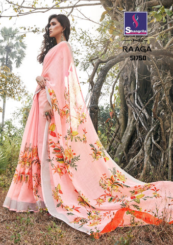 SHANGRILA PRINTS LAUNCHES RAAGA PRINTED SOFT LINEN SAREE COLLECTION