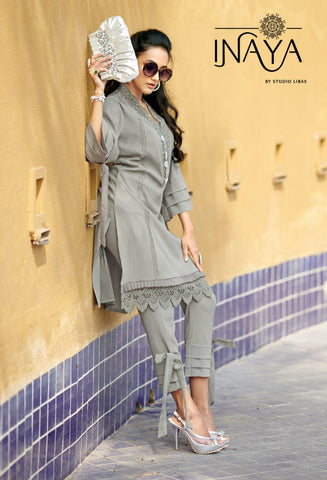 INAYA LPC – 54 DESIGNER KURTI COLLECTION WITH PANTS IN PAKISTANI STYLE