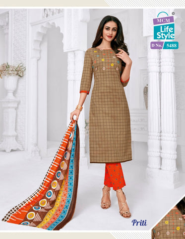 MCM LIFESTYLE PRITI VOL.3 DAILYWEAR DRESS MATERIAL SUMMER COLLECTION