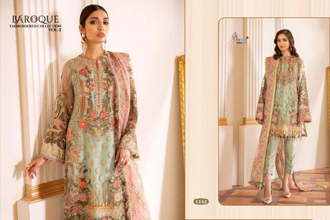 SHREE FABS BRINGS BAROQUE VOL 2 EMBROIDERED PAKISTANI DRESS MATERIAL