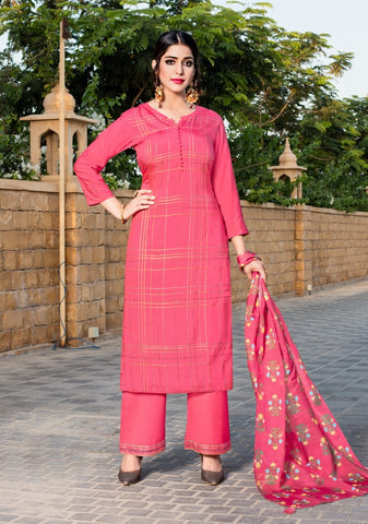 YAMI FASHION RUHAANI PURE VISCOSE OCCASIONAL WEAR EMBROIDERED DRESS