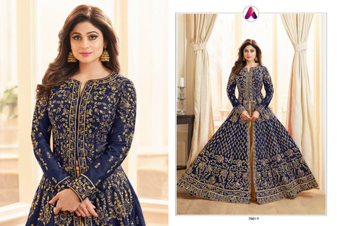 Aashirwad Baani Gold Bridal Wear Designer Gown Collection