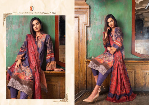 Shraddha Designer Sobia Nazir Vital Vol 2 Lawn Cotton Embroidery Work Suits
