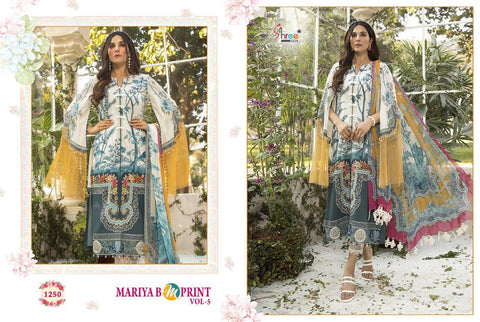 Shree Fabs Maria B Mprint Vol 5 Jam Cotton Embroidery Pakistani Salwar Kameez