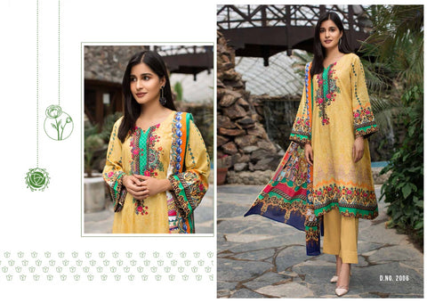 Yashika Designer Mahnoor Lawn Collection Vol 2 Pure Lawn Cotton Casual Wear Salwar Suit