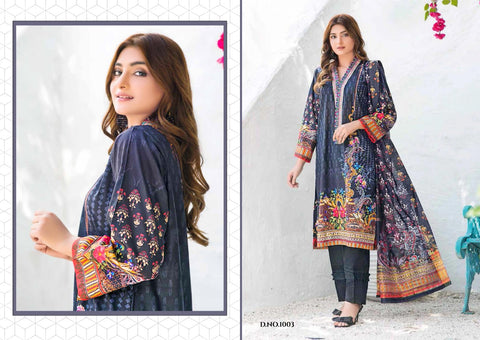 Yashika Trendz Presents Mohterma Lawn Cotton Casual wear Salwar Suits