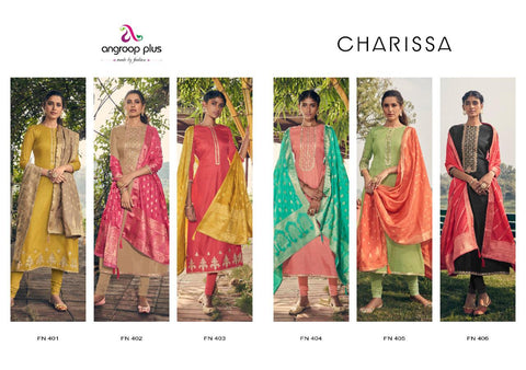 ANGROOP PLUS PRESENTS CHARISSA TUSSAR SILK EMBROIDERED DRESS MATERIAL