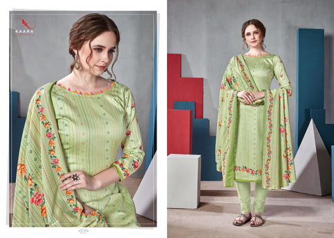 Kaara Suits Zahira Jam Satin Digital Print Casual Wear Salwar Kameez