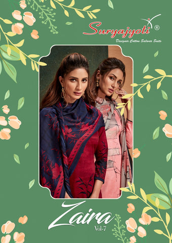 SURYAJYOTI BRINGS ZAIRA VOL.7 JAM SATIN DAILYWEAR SUIT DRESS MATERIAL