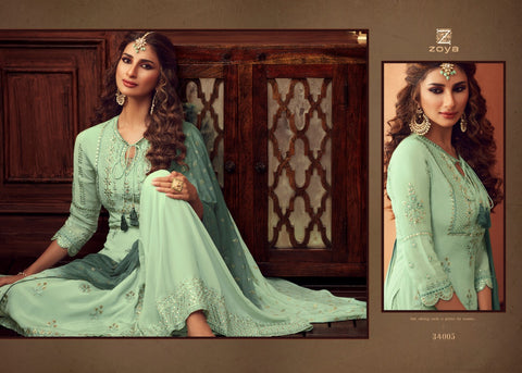 ZOYA TRADITION SIGNATURE COLLECTION SHARARA GARARA PATTERN WEDDING WEAR