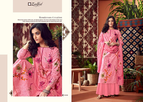 Zulfat Designer Suits Adah Vol 2 Cotton Printed Desginer Salwar Kameez