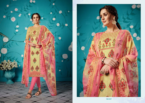 Zulfat Designer Suits Rihana Cotton Digital Print Casual Wear Suits