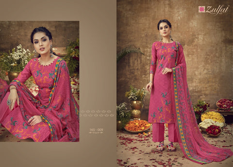 Zulfat Designer Suits Summer Queen Cotton Digital Printed Collection