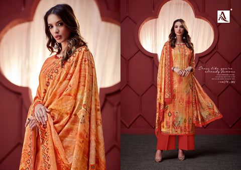 Alok Suit Ikat Stylish Look Attractive And Modern Style Salwar Suits Collection