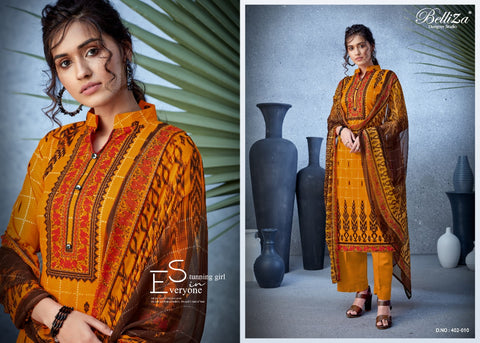 Belliza Nazrana New Beautiful Designed Suits Collection In Singles