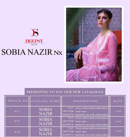 Deepsy Suit Sobia Nazir Nx Pakistani Desginer Party Wear Salwar Suits