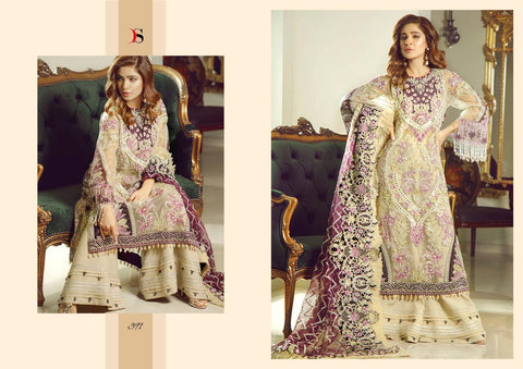 Deepsy Suit Inayat Heavy Embroidered Butterly Net Pakistani Collection In Wholesale