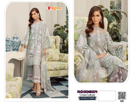Fepic Cross Culture Georgette Designer Pakistani Salwar Suit