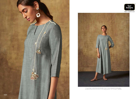 Four Button Mirror Viscose Chiffon Exclusive Kurti Collection