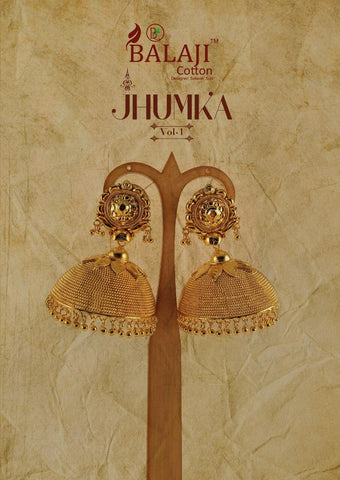 Balaji Jhumka Cotton Patiyala Fancy Dress Material With Fancy Border