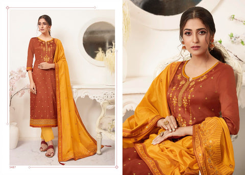 KESSI FABRICS PRESENTS RAJ GHARANA WITH  WORK & BANARASI SILK DUPATTA