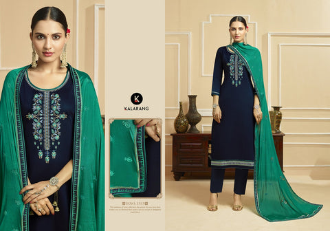 Kalarang Cristy Vol Cotton Dress Collection With Sequence Work Dupatta