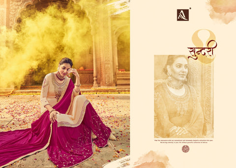 ALOK SUIT PRESENTS SAARANG PURE SATIN GEORGETTE DRESS MATERIAL