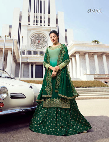 Glossy Simar Amanat Beautiful Designed Partywear Dress Material