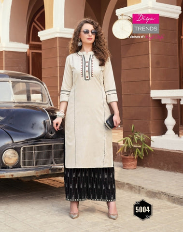 DIYA TRENDS BIBA VOL 5 KURTI COLLECTION WITH PLAZO