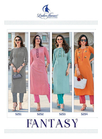 LADIES FLAVOUR PRESENTS FANTASY CASUALWEAR KURTI WITH PANTS