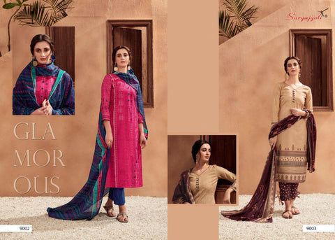 Suryajyoti Zion Cotton Vol 9 Stytlish Dress Material With Dupatta