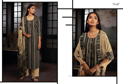 Ganga Suits Brings Zaidee Silk Cotton Heavy Swarovski Work Singles Collection