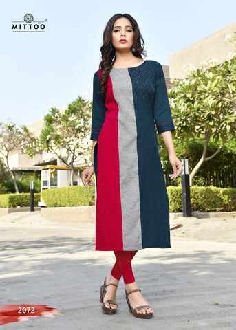 Mittoo Priyal Vol9 Dailywear Cotton Kurti