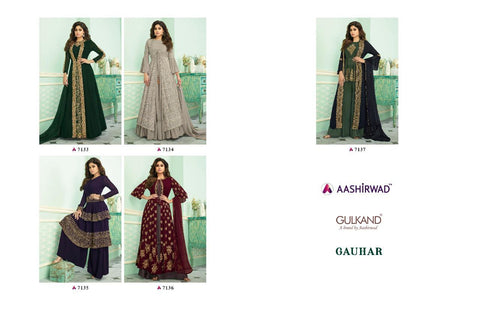 AASHIRWAD CREATION PRESENTS GAUHAR FANCY WEDDING WEAR COLLECTION