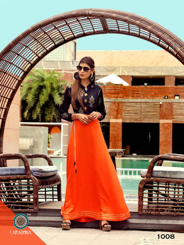 Aradhna Fashion Presents Western Girl Flair Kurtis