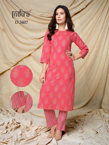 Indira Apparel Roz Meher Cotton Printed Casual Kurti Collection