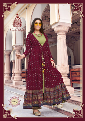 Kajal Style Fashion Lakme Vol 4 Kurti With Plazzo Stylish Wear Collection