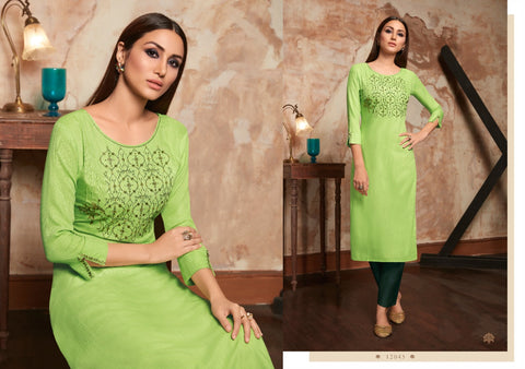 KALAROOP PRESENTS KIVI BEAUTIFUL RAYON KURTI COLLECTION