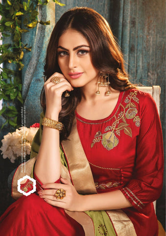Kiana Fashion Zumkha Vol 2 Long Designer Kurti With Dupatta Collection