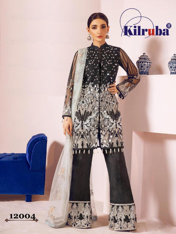 Kilruba Jannat Freesia Georgette Butterfly Net Pakistani Dress Material