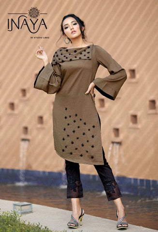 Libas Studio Luxury Pret Collecation  Chinnon Rayon Designer Kurti Collection