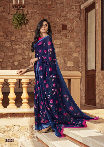 LT Fashions Shruti Soft Linen Floral Printed Saree
