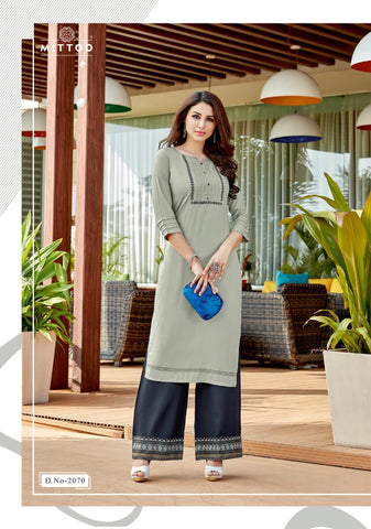 Mittoo Panghat Vol 11 Kurti With Plazzo Designer Collection In Wholesale