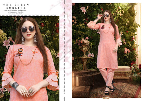 NEETI PESENTS NEEVA FANCY KURTI WITH PANT COLLECTION