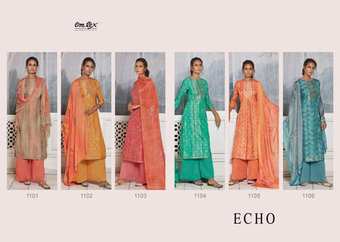 Om Tex Echo Attractive Stylish Salwar Suits